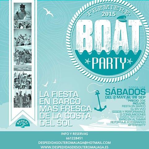 Boat Party en la costa de Málaga - Fiesta de despedida de solter@ en Barco