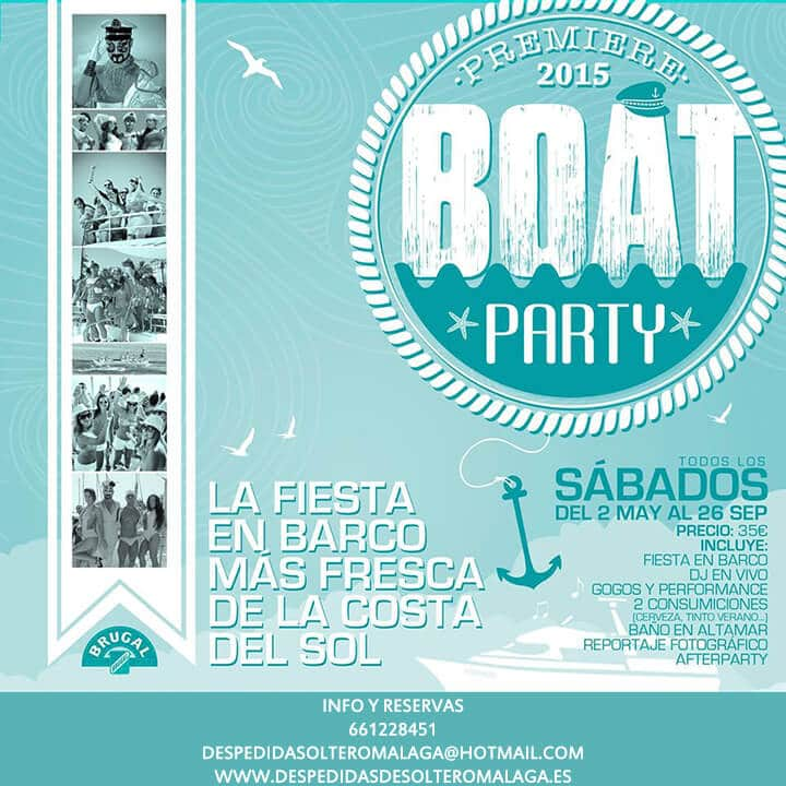 Boat Party en Benalmádena Costa