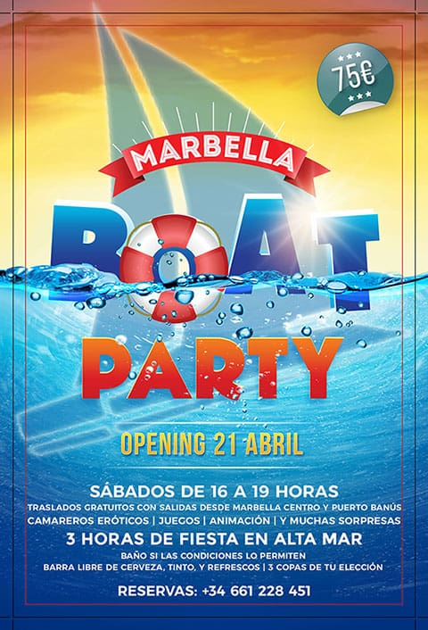 Boat Party Marbella 2018