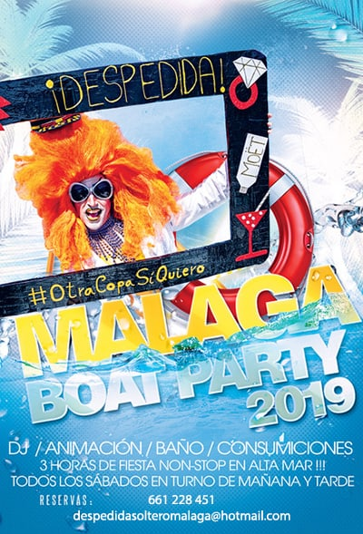 Boat Party en Málaga capital 2019