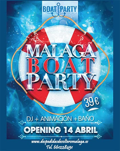 Boat Party en Málaga capital