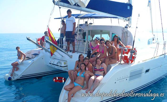 Despedidas en barco Málaga 1