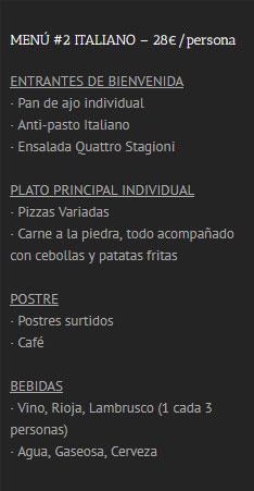 Menú Italiano 2