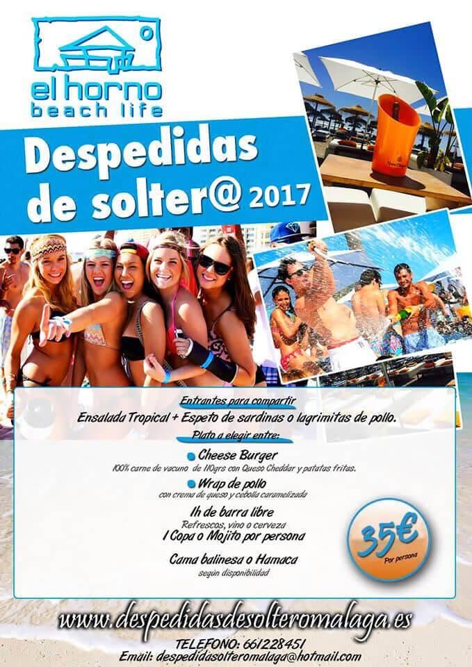 Oferta Despedidas Soltera El Horno Beach Club
